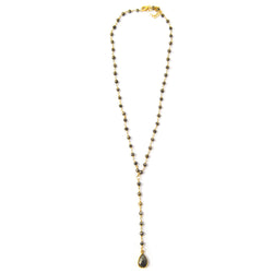Luna Lariat Necklace Pyrite