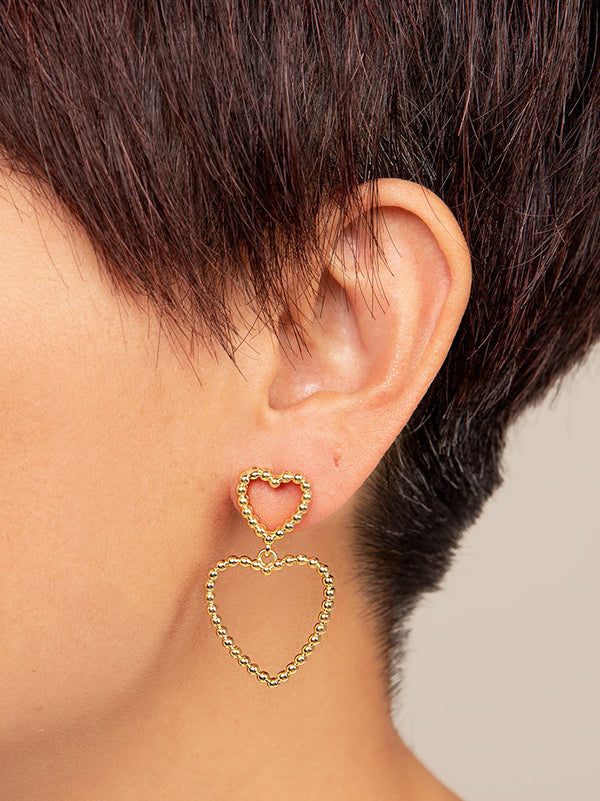 VALENTINA HEART DROP EARRING