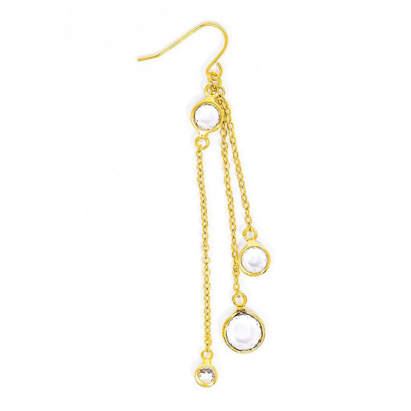 Crystal Gold Drop Earrings