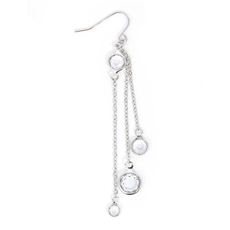 Crystal Silver Drop Earring