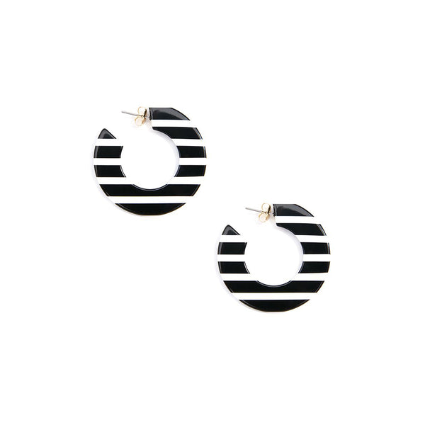 Striped Flat Hoop Earring