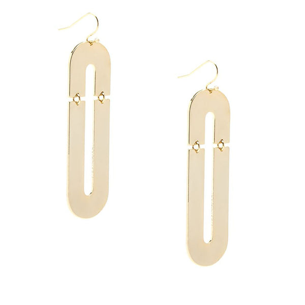 Flat Metal Link Drop Earring