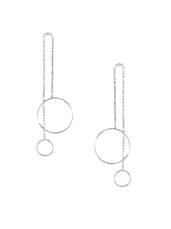 Crystal Double Hoop Drop Earring