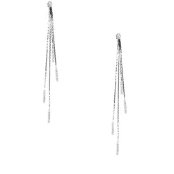 Crystal Embellished Metal Ear Jacket Earring
