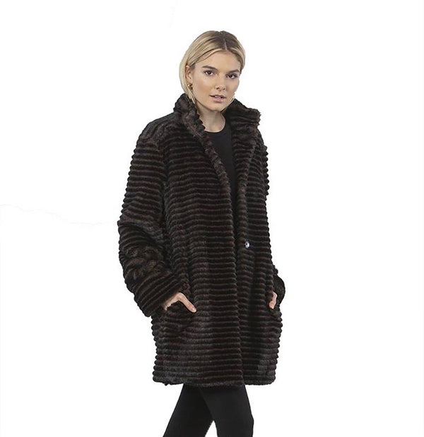 Capote Faux Fur Coat