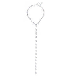 Classic Crystal Y-Drop Necklace