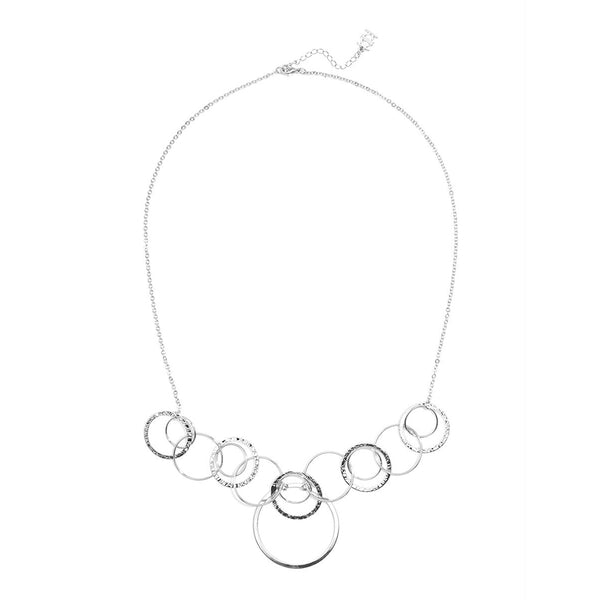 Thin Metal Rings Collar Necklace