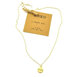 XOXO Shimmer Charm Necklace