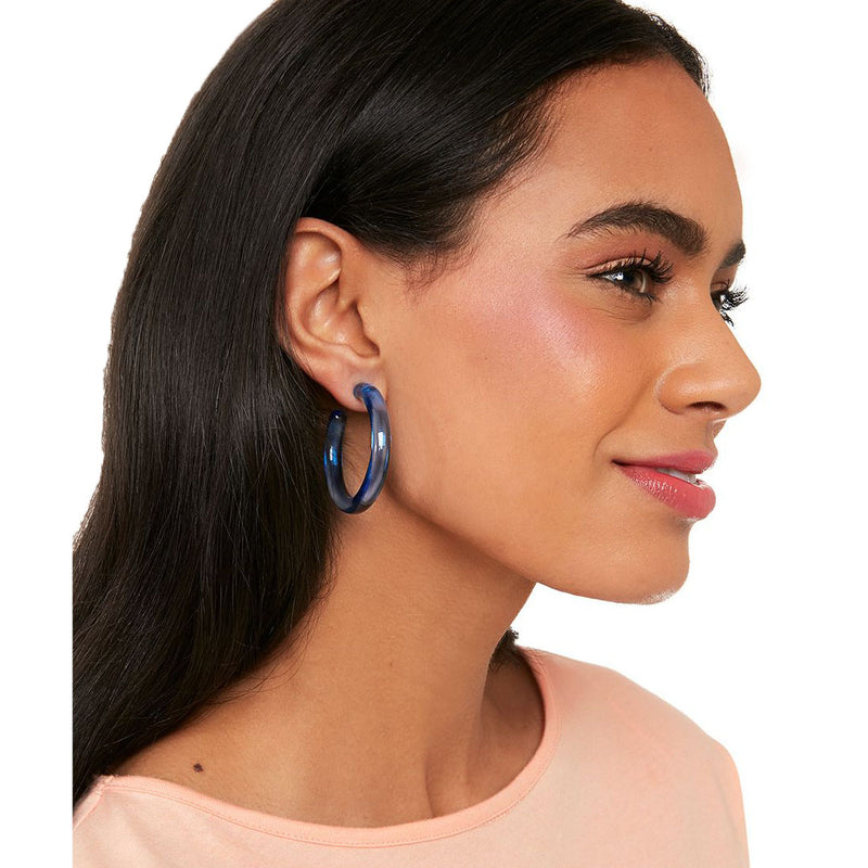 Classic Lucite Hoop Earring