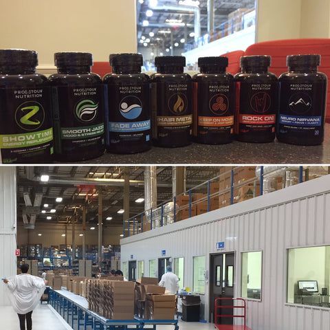 ProTour Nutrition bottles and lab