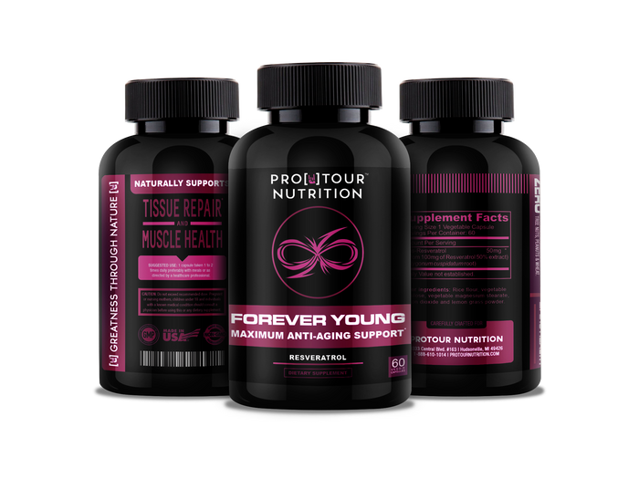 FOREVER YOUNG - Anti-Aging Support, Immune System Boost & Heart Health - Powerful Antioxidant Benefits - 60 veggie capsules