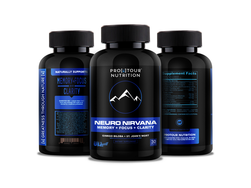 Neuro Nirvana Brain Support For Memory Focus Clarity Supplement