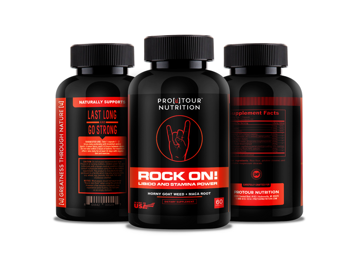 ROCK ON! - Stamina&Libido & Energy, 9 Powerful Ingredients - 60 capsules