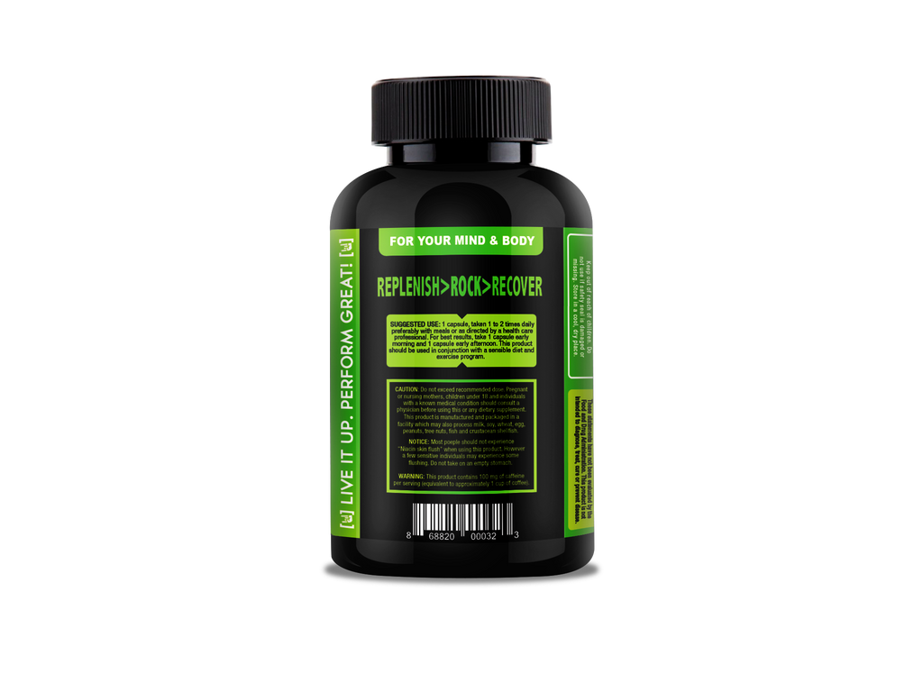 SHOWTIME - Energy Replenisher No Crash; No Jitters, All Natural – Spirulina, Biotin, Maca, Ginseng & More - 60 capsules