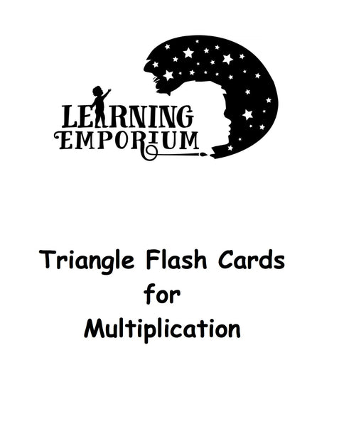 Triangle Flashcards for Multiplication