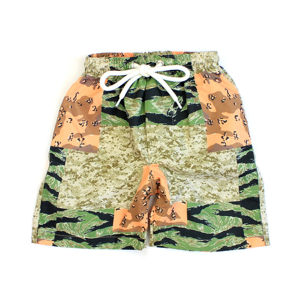 What the Camo Swim Trunks