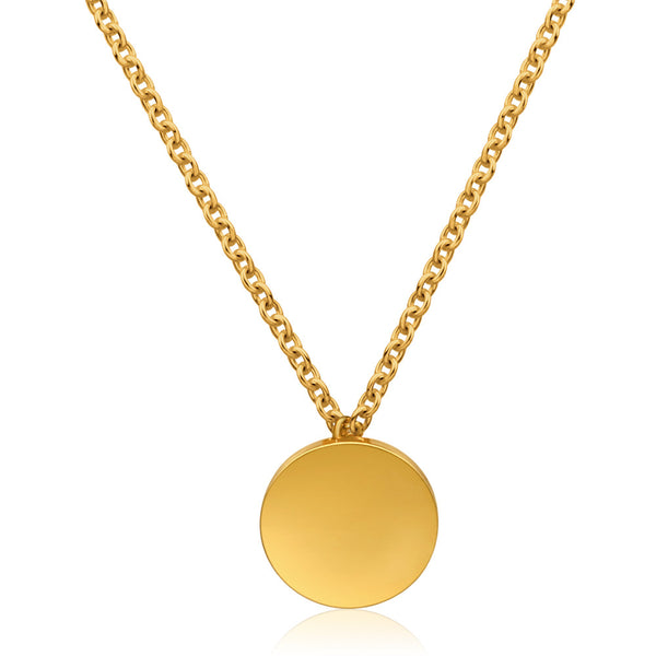 Gold Plated Mini Disc Necklace