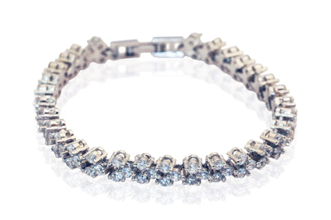 Cubic zirconia heart shaped bracelet