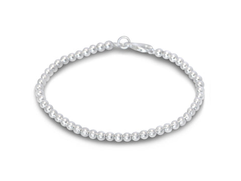 Small Silver Ball Bracelet