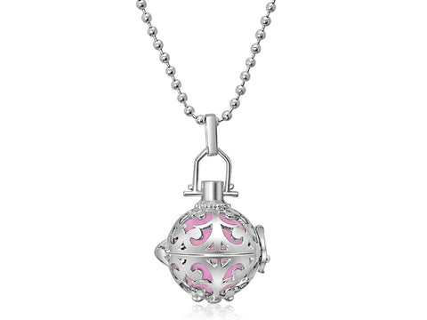 Pink Harmony Ball Necklace