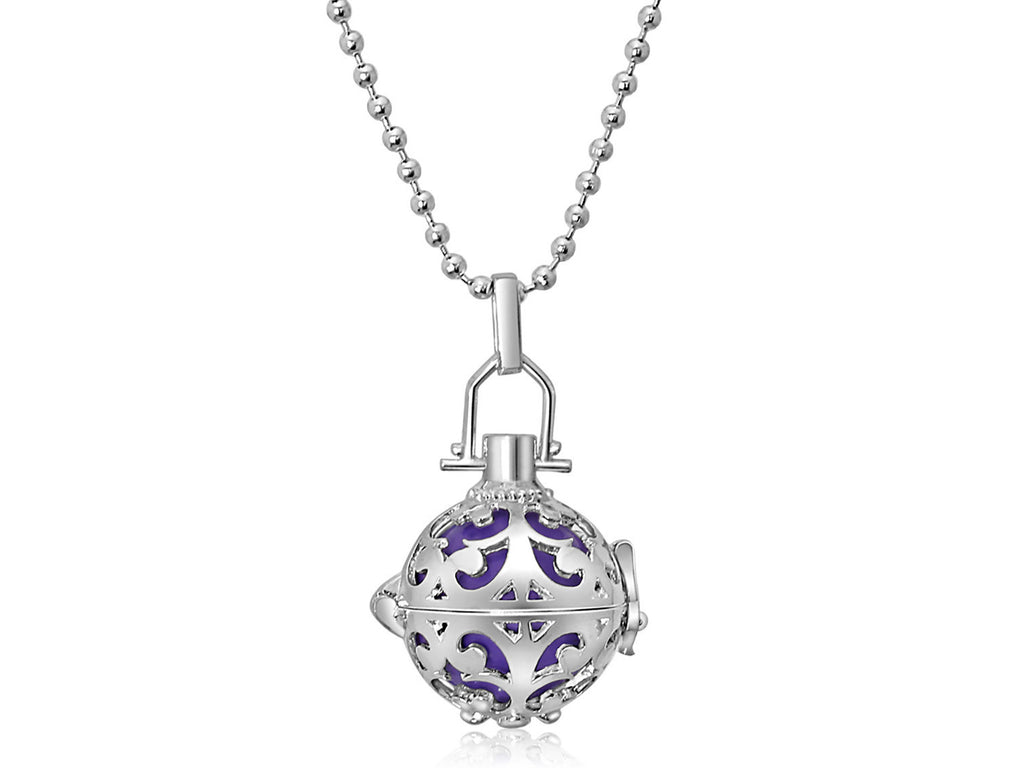 Purple Harmony Ball Necklace