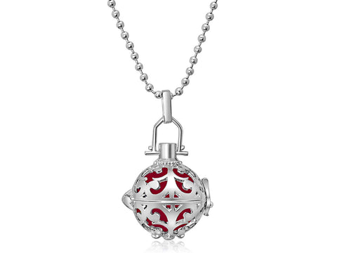 Red Harmony Ball Necklace