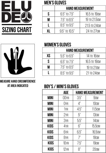 Elude Glove Size Chart