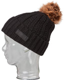 TEXTURED RIBBED BEANIE