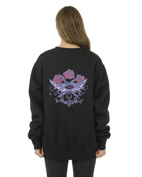 ROSE WREATH CREW NECK