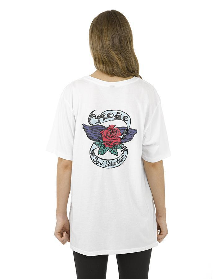 WINGED ROSE SHORT SLEEVE TEE