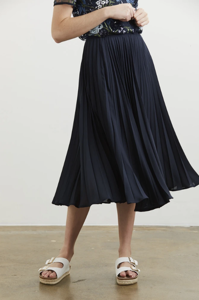 CHARMAINE REVELEY Coachella Skirt Mid Length (Navy)