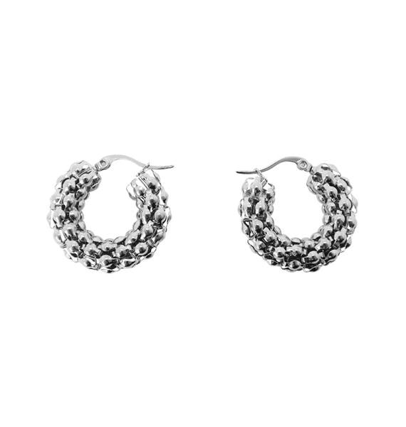 Coco Hoop Earrings (Silver)