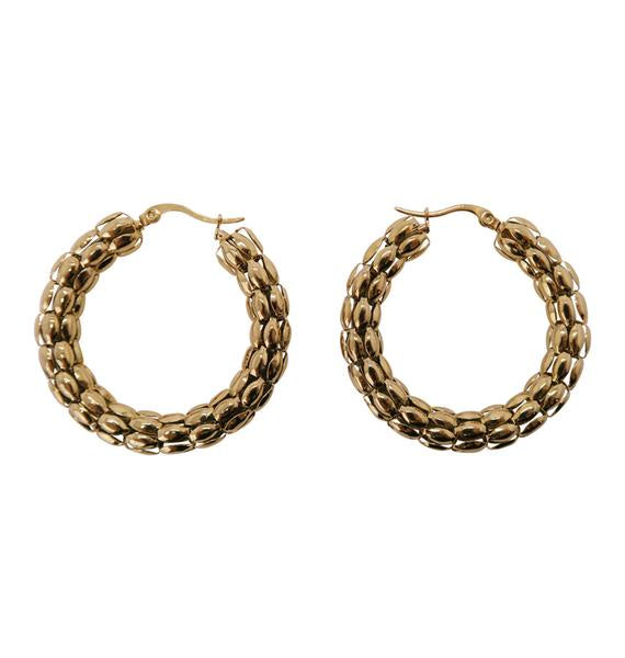 WOS  Coco Hoop Earrings Large (Gold)