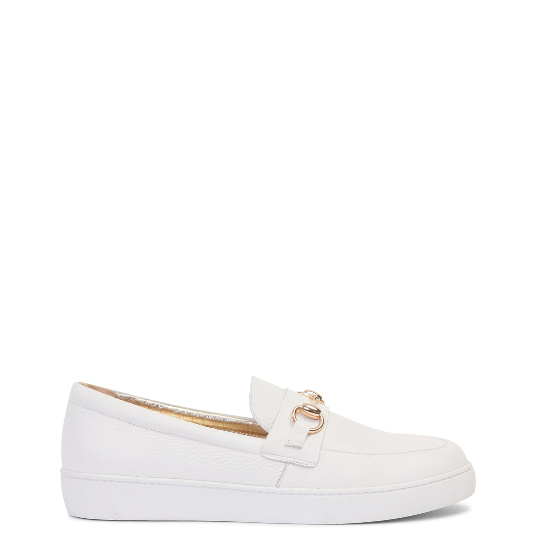 MISS WILSON Sasha Loafer (White Pebble)