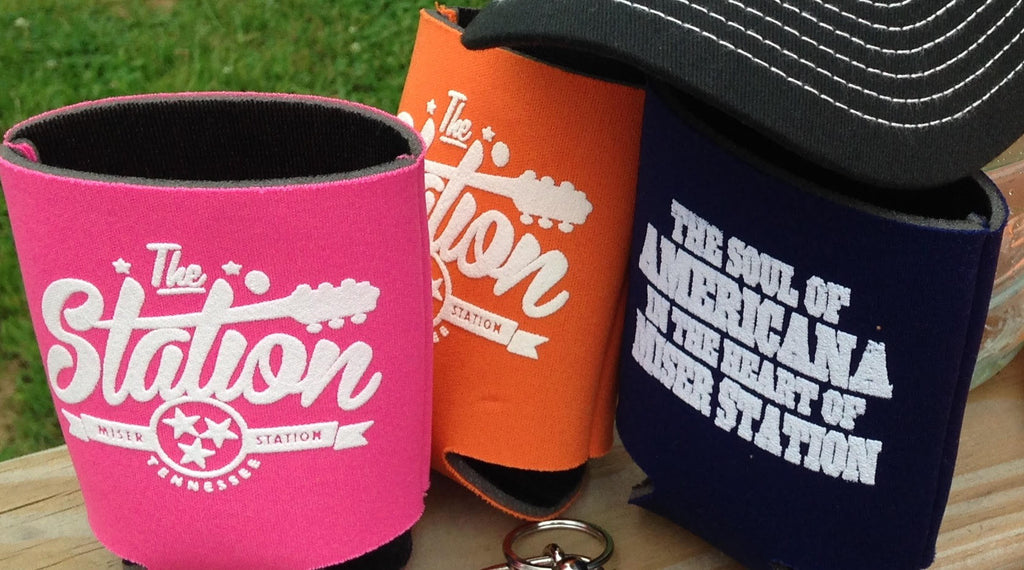 The Station - Navy Koozie
