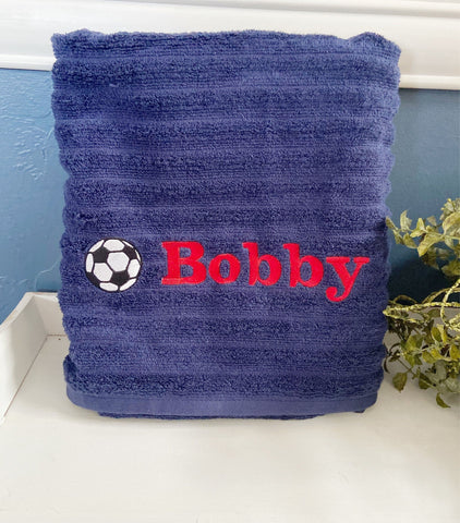 Personalized Soccer Towels