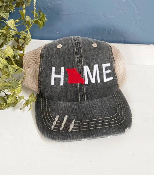 Custom Embroidery Missouri Home Trucker Hat