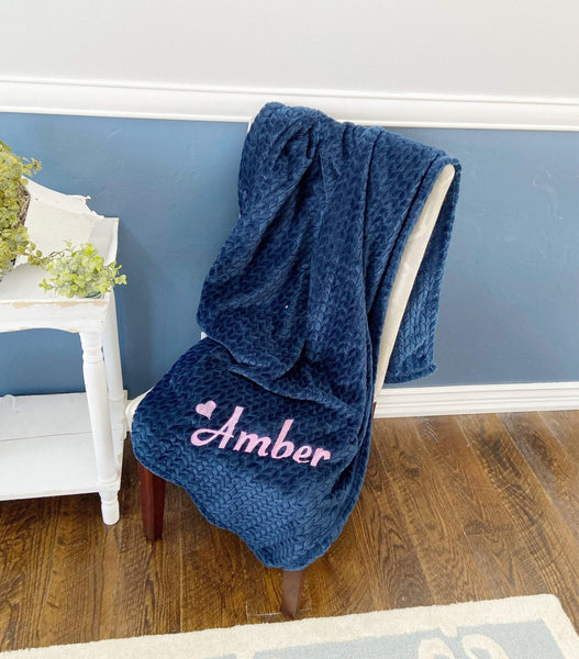 Navy Throw Blanket for Mom