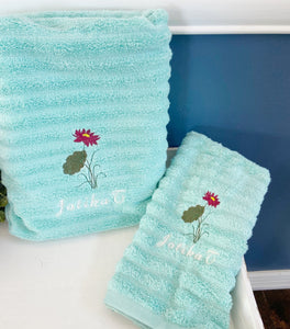 Personalized Lotus Flower Towel