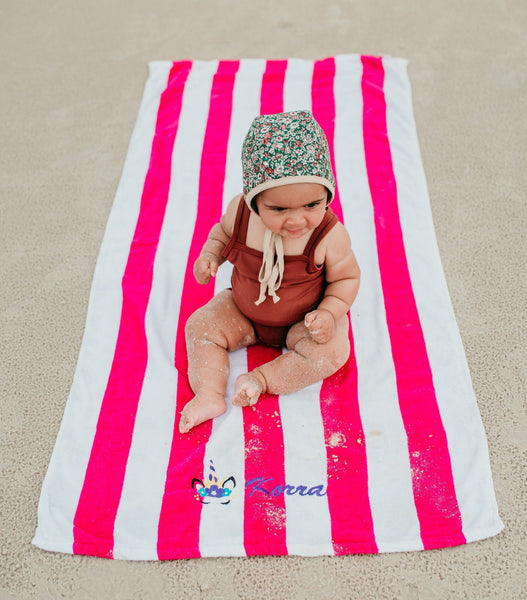 Personalized Unicorn Beach Towel