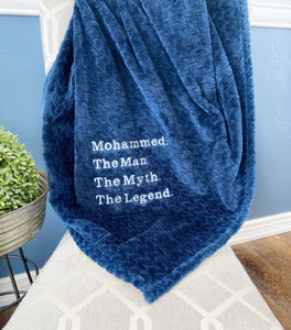 The Man The Myth Blanket