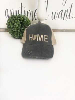 Indiana Home hat - Indiana State cap | Gift for Mom - State Pride - La Bella Rose Boutique