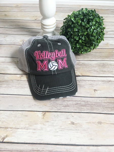 Volleyball mom hat, trucker hat, mama style hat, baseball hat, embroidered hat, mothers day gift, gift for mom, baseball cap volleyball team