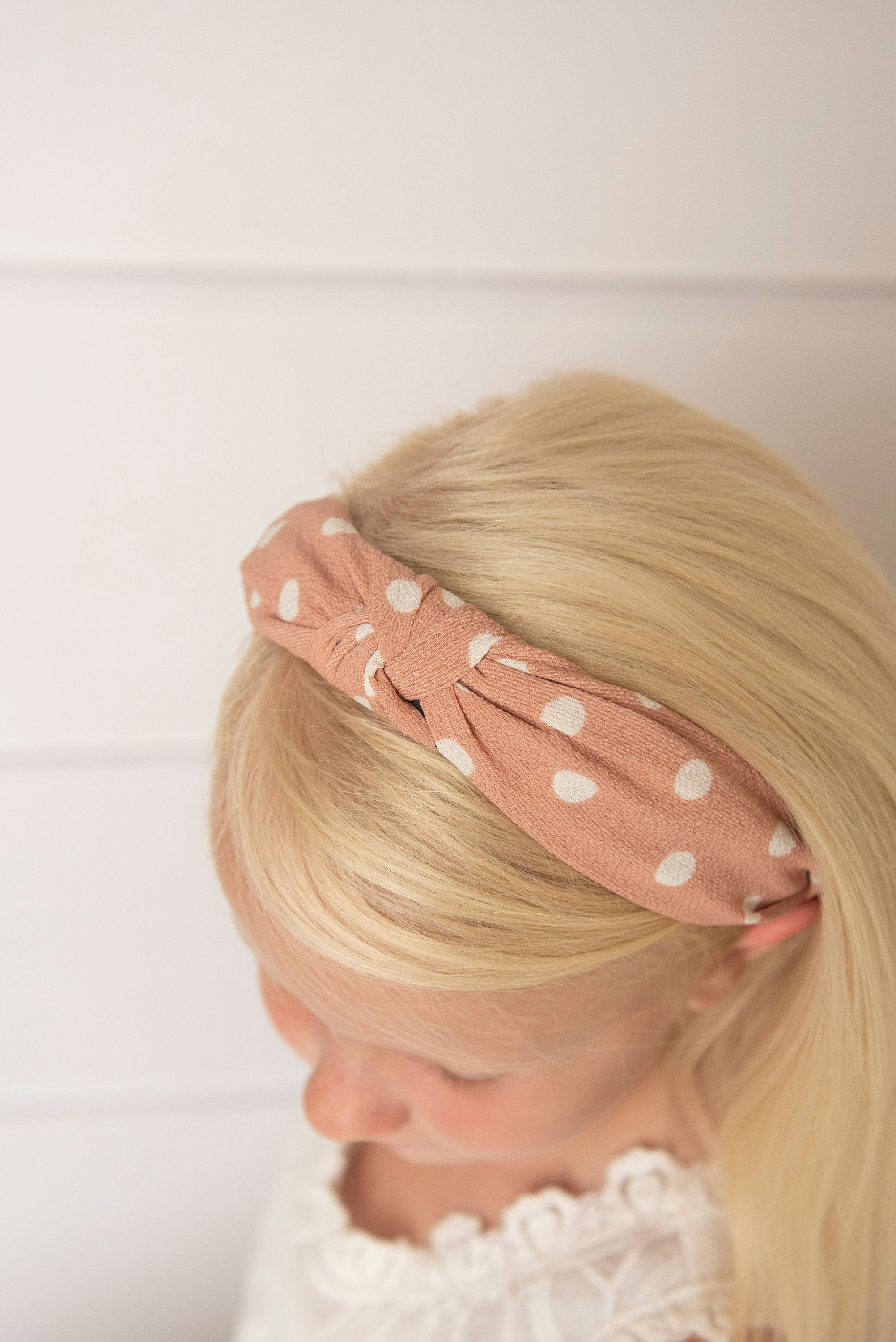 blush knotted hard headband for girl, womens hard headband for women, girl headband with bow, knotted headband for women's headband, turban