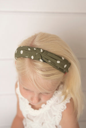 forest green knotted hard headband for girl, green womens hard headband for women, womens turban, knotted headband for women headband green