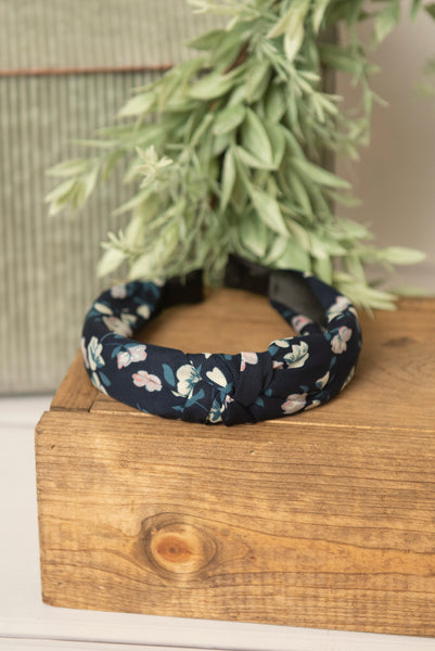Dusty Blue Knotted Headband