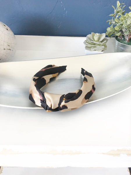 camouflage knotted headband