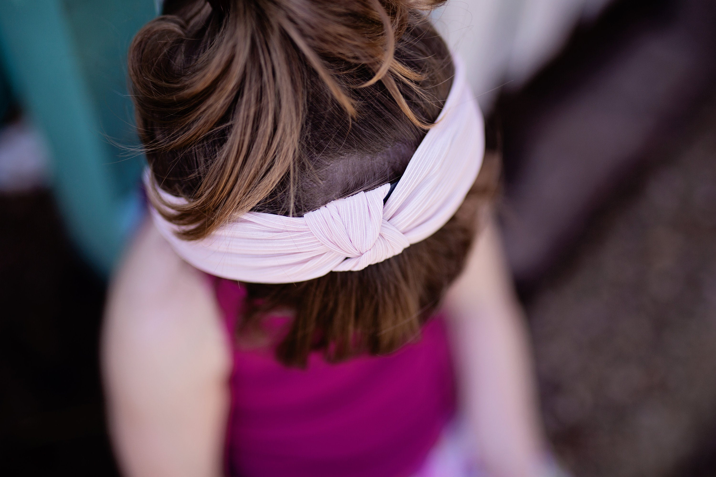 black and white knotted hard headband for girl