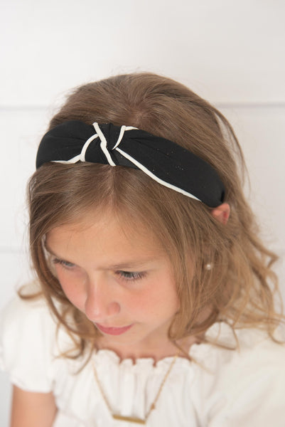 black & white headband