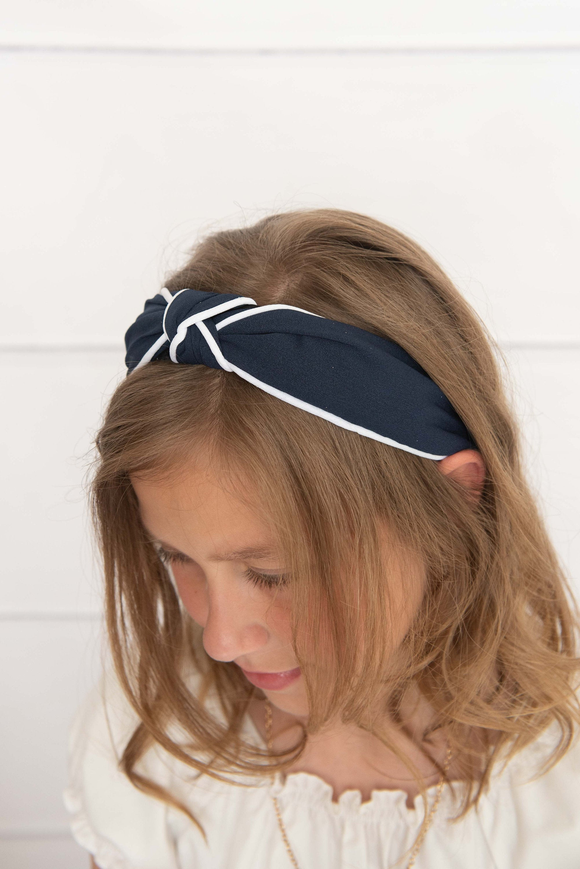 navy knotted hard headband for girl, womens hard headband for women, womens knot headband girl knotted headband for women's headband, turban
